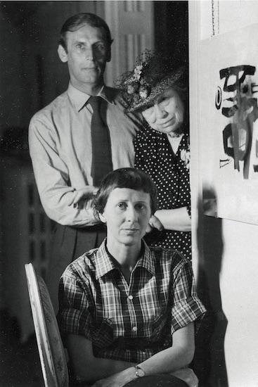 Etta und Otto Stangl mit Maria Marc, um 1950, Foto: Rosemarie Nohr